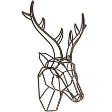 deer head bronze deer head metal wall decor hobby lobby 1294792