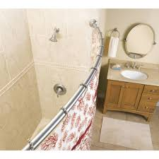 Shower Curtain For Curved Rod Bathroom Impressive Curved Shower Curtain Rod For Shower Curtain