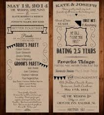 Wedding Program Stationary Custom Infographic Wedding Program Insert Or Print Personalized