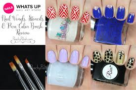 whats up nails nail vinyls and stencils u0026 pure color brush review
