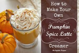 diy pumpkin spice latte creamer the organic prepper