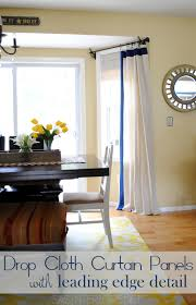 Diy Drop Cloth Curtains Diy Drop Cloth Curtain Panels With Leading Edge Detail Jenna Burger