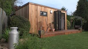 Office In A Shed Home Office Garden Room Youtube