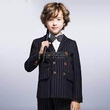 costume bleu marine mariage veste garçon enfant costume bleu marine à rayures le haut pour