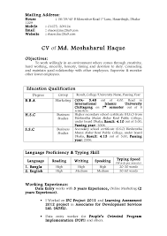 resume examples for it jobs professional resume cover letter