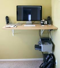 Computer Wall Desk Small Wall Desks Save Space In The Bedroom With Wall Mounted Desk
