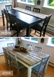 repurposed dining table 40 high style low budget furniture makeovers you could definitely do