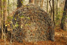 Tree Trunk Hunting Blind Ghillie Ground Blind Cover For Double Blind Or Hunting Blinds