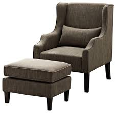 ottoman and accent chair ashbury wingback club chair and ottoman transitional armchairs for