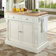 Butcher Block Top Kitchen Island Darby Home Co Lewistown Kitchen Island With Butcher Block Top
