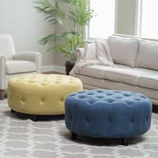 round dressing room ottoman belham living teagan round tufted ottoman from hayneedle com