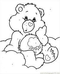 bearcareby numbers coloring free care bears coloring pages