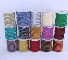 metallic ribbon 12mm glitter velvet metallic ribbon rope diy accessories headbands