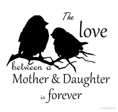 Mother And Daughter Love Quotes by Mother Daughter Love Forever Quote Cute Bird Silhouette Art
