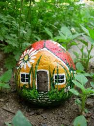 42 best painted rocks buildings and houses images on pinterest