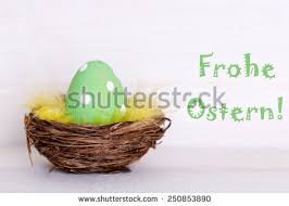 German Wooden Easter Decorations by Vector Vintage Easter Eggs Wicker Nest Stock Vector 571603393