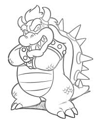 bowser coloring free printable coloring pages