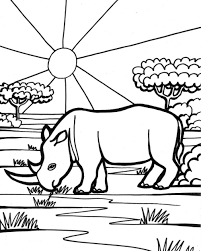 rhino free animal coloring pages for kids animal coloring pages