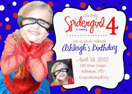 custom birthday invitation birthday party spiderman spider