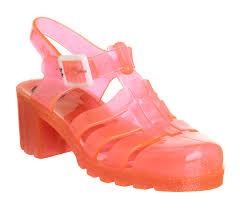 womens juju hi juju jelly fluro orange glitter exclusive