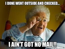 Mail Meme - mail lady