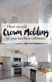 How To Add Molding To Cabinet Doors Cabinet How To Add Crown Molding To Kitchen Cabinets How To Add