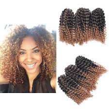 crochet braid hair 8 ombre afro curly crochet braids marlybob braid hair