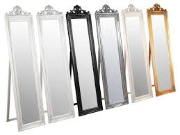 Bevelled Floor Mirror by Best 25 Of Cream Free Standing Mirrors