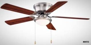 ceiling fan hugger low profile 52 in brushed nickel with frosted
