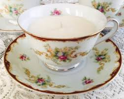 tea cup candles tea cup candles etsy