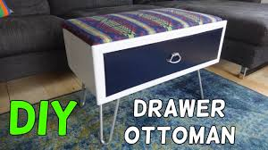 turn a drawer into an storage ottoman youtube
