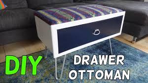 Make Storage Ottoman by Turn A Drawer Into An Storage Ottoman Youtube