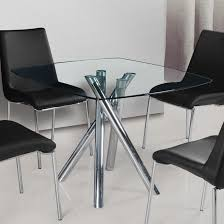 Modern Glass Kitchen Table Table Square Glass Dining Table Contemporary Compact Incredible