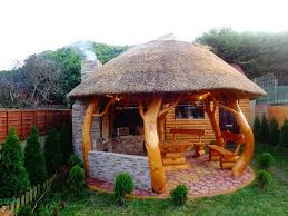 Summer Kitchen Ideas by Thatched Gazebo Summer House Log Cabin Garden Furniture