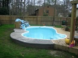 inground pool with sundeck inground pools with wooden decks