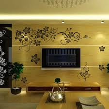 diy wall art decal decoration romantic black butterfly flower vine diy wall art decal decoration romantic black butterfly flower vine wall sticker wall stickers home decor 3d wallpaper zy027s in wall stickers from home