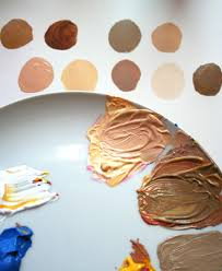 an easy method for mixing paint for skin tones primary colors