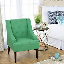 Aqua Accent Chair by Homepop Kate Tufted Swoop Arm Accent Chair Homepop