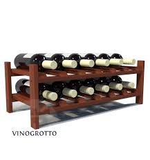 12 bottle stacking countertop wine shelf