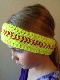 softball headbands softball headbands softball and ears crochet ideas and tips