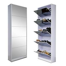 ship from usa fashion wood mirror shoe cabinet living room