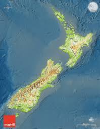 Map New Zealand Physical Map Of New Zealand Darken