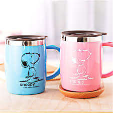 cartoon stainless steel coffee mugs with lid personalized copo