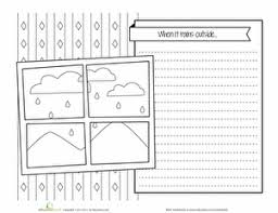 rain writing prompt seasons worksheets second grade writing and