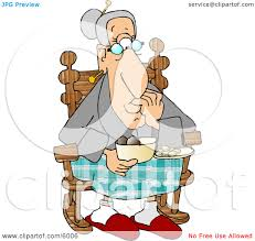 Old Man In Rocking Chair Old Man Sitting In A Recliner Chair Clipart Picture By Djart 6229