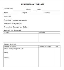 lesson plan outline sample