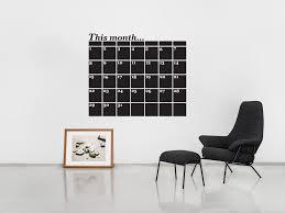 Chalk Board Wall Stickers Monthly Planner Chalkboard Calendar Wall Sticker Vinyl Impression