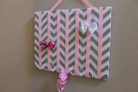 bow holders hair bow holder large grey chevron hairbow organizer headband