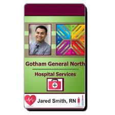 medical id card healthcare hospital badge pinterest medical