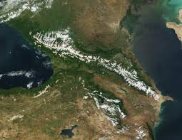 Caucasus Mountains On World Map by Nasa Visible Earth Caucasus Mountains Black Sea And Caspian Sea
